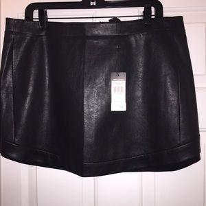 Bcbgmaxazria Kanya Curved Hem Faux Mini Skirt